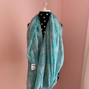 NWT Blue Floral Infinity Scarf